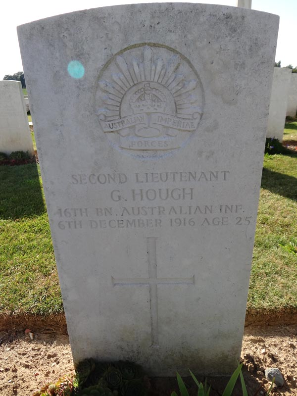 HOUGH,  G.  SECOND LIEUT-  707