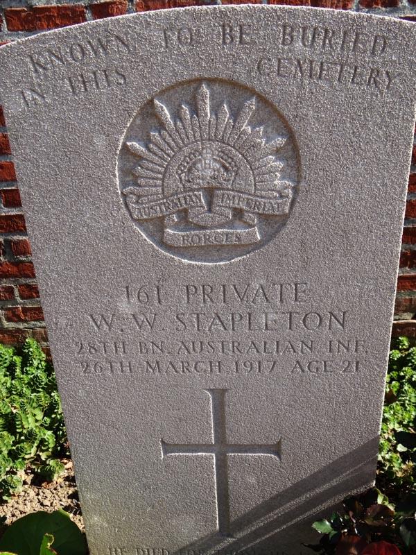 STAPLETON, W. W.  PTE-  161